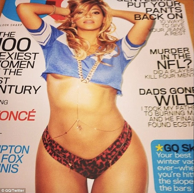Racy: A leaked version of Beyonce's upcoming GQ magazine cover shows the star parading her killer curves in a barely-there ensemble