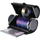 Atlantic Disc Manager 80 Disc Storage Drum Media storage box - Gray, black