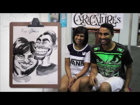 Caricature reveals at the Wedding Expo 2016