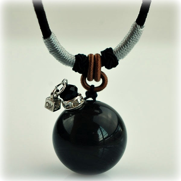 Halskette Gemstone, black
