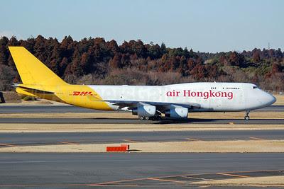 Air Hong Kong-DHL Boeing 747-444 BCF B-HUR (msn 24976) NRT (Nik French). Image: 911859.