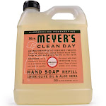 Mrs Meyers Clean Day Liquid Hand Soap, Refill, Geranium Scent - 33 fl oz