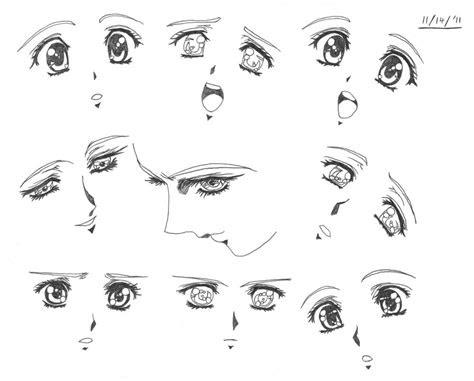 draw anime eyes female cute