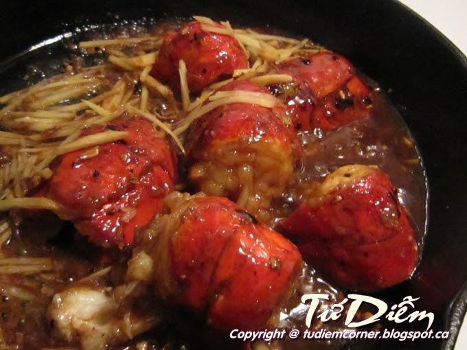 Lobster Xào Hành Gừng | TuDiem's Corner