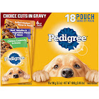 Pedigree Food for Dogs, Choice Cuts in Gravy, 18 Pouch Variety Pack - 18 pack, 3.5 oz pouches