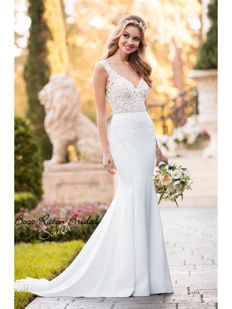Stella York 6476 coming in June! Beautiful crepe and lace