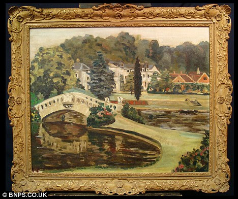 Hidden treasure: Churchill's painting of Windlesham Moor was lost in an attic for 30 years and now might sell at auction for £150,000