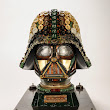 Darth Vader Helmet Made Using Recycled Typewriter, Machine and Computer Parts