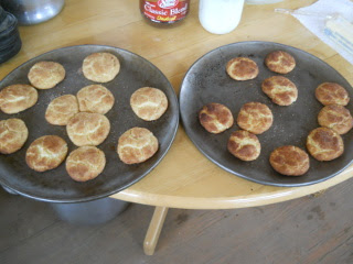 First Two Plates of Wood Burning Oven-Cooked Cookies