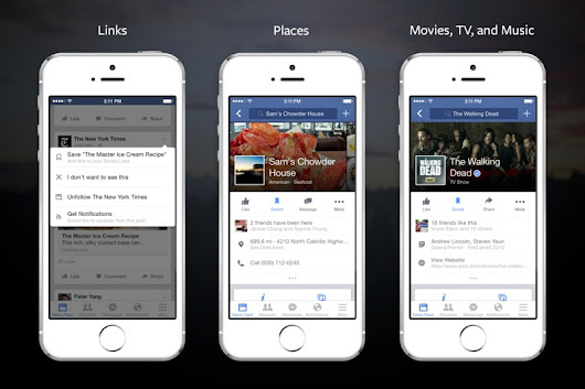 Facebook Debuts New Read-It-Later 'Save' Feature for iOS and Desktop