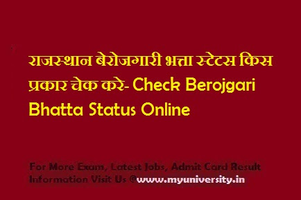 Rajasthan Berojgari Bhatta Status Check