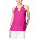 I-N-C Womens Embellished Halter Blouse magentaflame XL