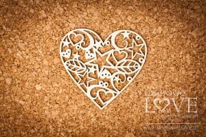 Tekturka - Serce świąteczne Herbace