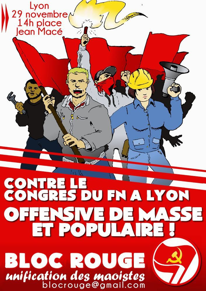 Lyon : Manif contre le Congrès du FN
