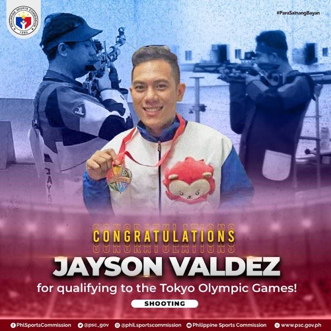 Shooter Jayson Valdez is 12th Filipino athlete bound for Tokyo Olympics