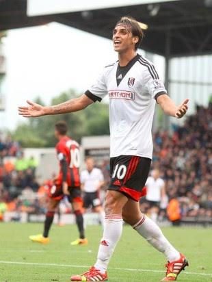 Bryan celebró el gol que anotó el sábado. Foto Fulham.
