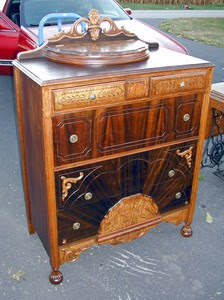 Old Ornate Chest with half circle lid - after