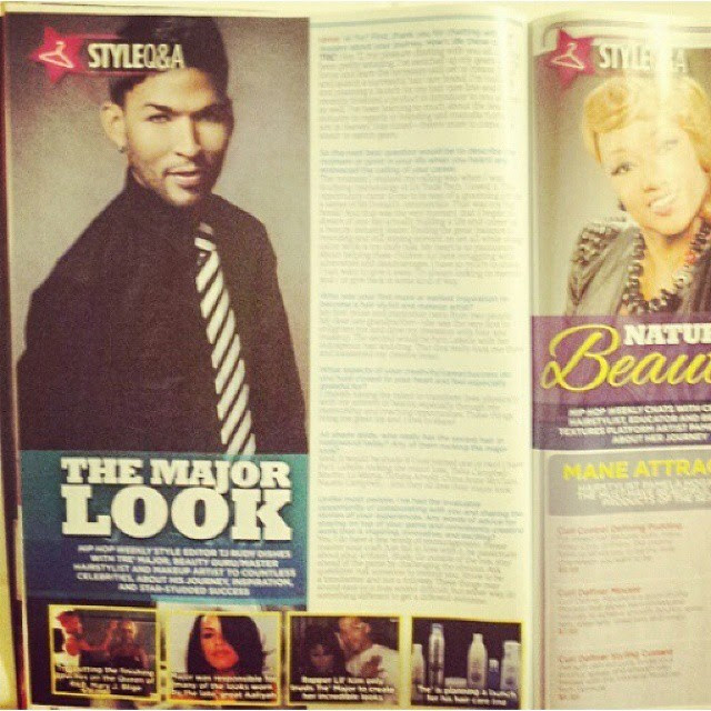 """Repost from @themajorlook1 """"My Question & Answer  Out now: in Latest edition of HipHop Weekly Please go and get you a copy .. So you can get that tea .. #Gottalovewhatyoudoo It's Pretty Awesome yourself and your work in publication's that you love #hiphopweekly #mylife #themajorlook #tremajor will post more soon :) #instagramhub #like4like"""" 