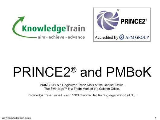 Comparing PRINCE2 and the PMBok
