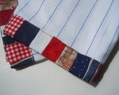 Patriotic Dish Towels and Potholder Set - Independence Day - PruittCreations