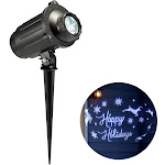 Philips Holiday Scene Christmas LED Motion Projector Light - White