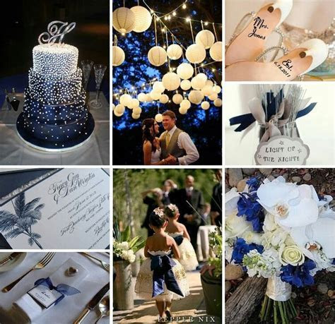 Starry Night Theme: Midnight blue, silver and white