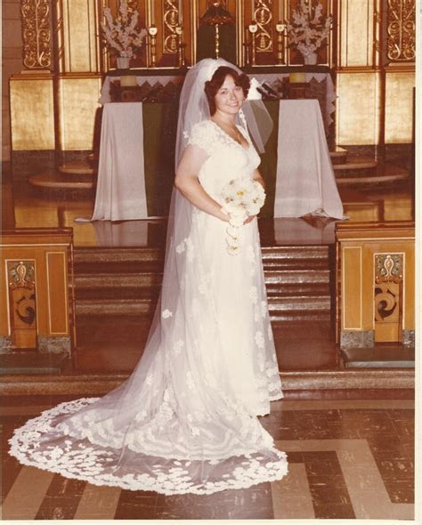In 1976, my wedding dress cost 3 times my monthly salary