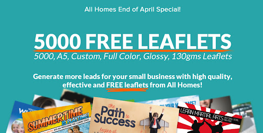 Hurry! Your 5000 leaflets offer ends this Friday