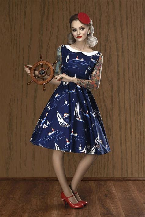 yacht club   nautical dress   50s style dresses