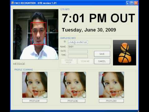 Face recognition use in Daily time recording (Biometrics) - YouTube