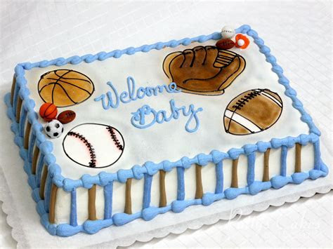 Photo of a sports baby shower cake   Patty's Cakes and