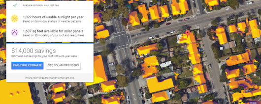 """Here there be photons"": Google's Project Sunroof maps solar panel savings"