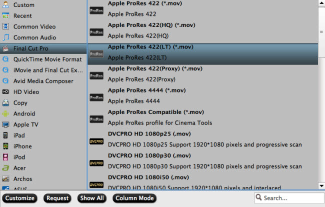 output for fcp