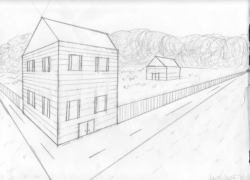 house  perspective  drawing  by kephart design  on DeviantArt