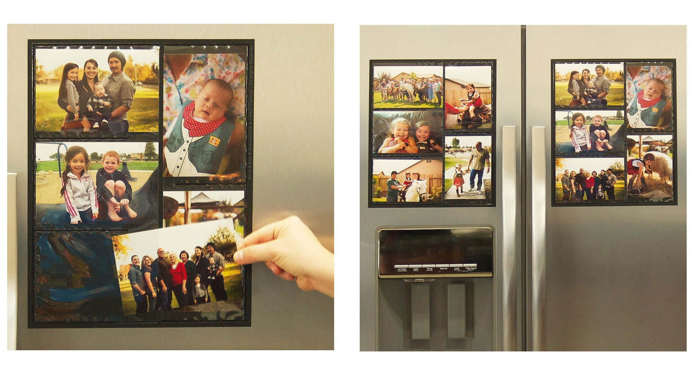11 Great Photos Of Magnetic Collage Picture Frames For Refrigerator