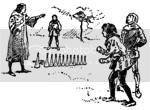 Henry Ernest Dudeney's Kayles illlustration