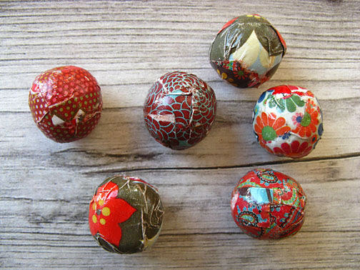 fabric paper beads
