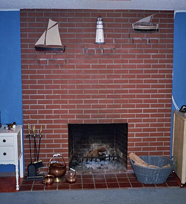 Painting an Old Brick Fireplace | Simplified BeeSimplified Bee