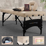 Inner Strength Premium Ultimate Portable Home Massage Table Package Beige