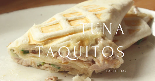 Earth Day Waffled Tuna Taquitos - Suzie The Foodie