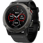 "Garmin fenix 5X Sapphire Multisport GPS Watch - 1.2"" Display - Slate Gray with Black Band"