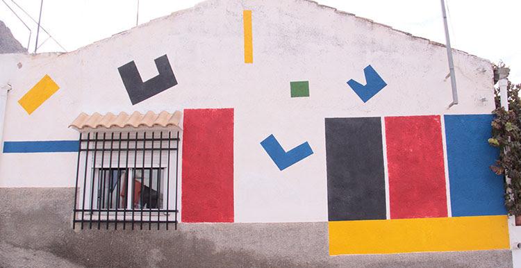 Geometria Murales Miguel Hernandez Orihuela