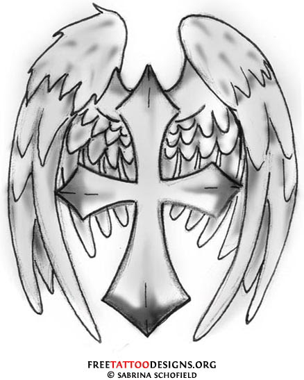 Cross With Tribal Wings Tribal Angel Wings Tattoo Designs Best