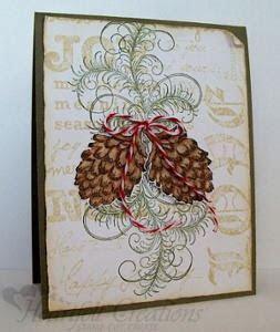Elegant Joy Pine Cone Christmas Card   AllFreePaperCrafts.com