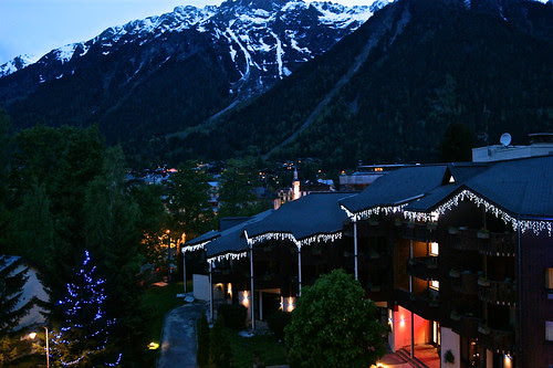 Chamonix at night
