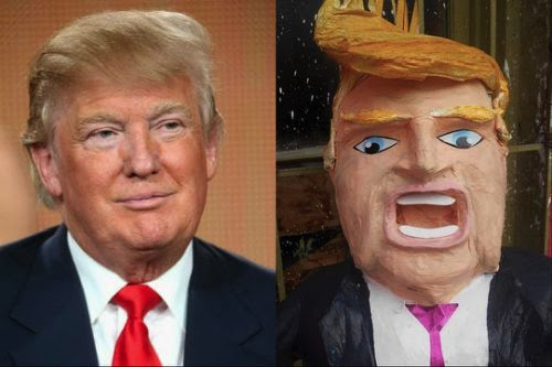 Donald Trump piñatas for sale in Mexico