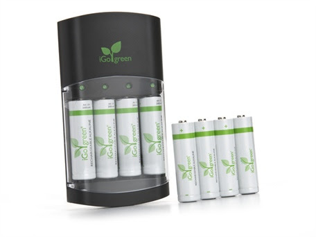 Battery Charger with 8 Batteries