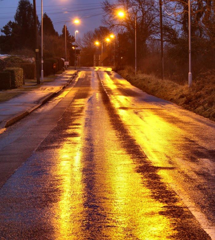 Road with rain...
