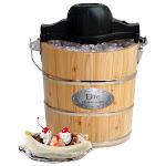 Elite - 4-Quart Old-Fashioned Ice Cream Maker - Brown