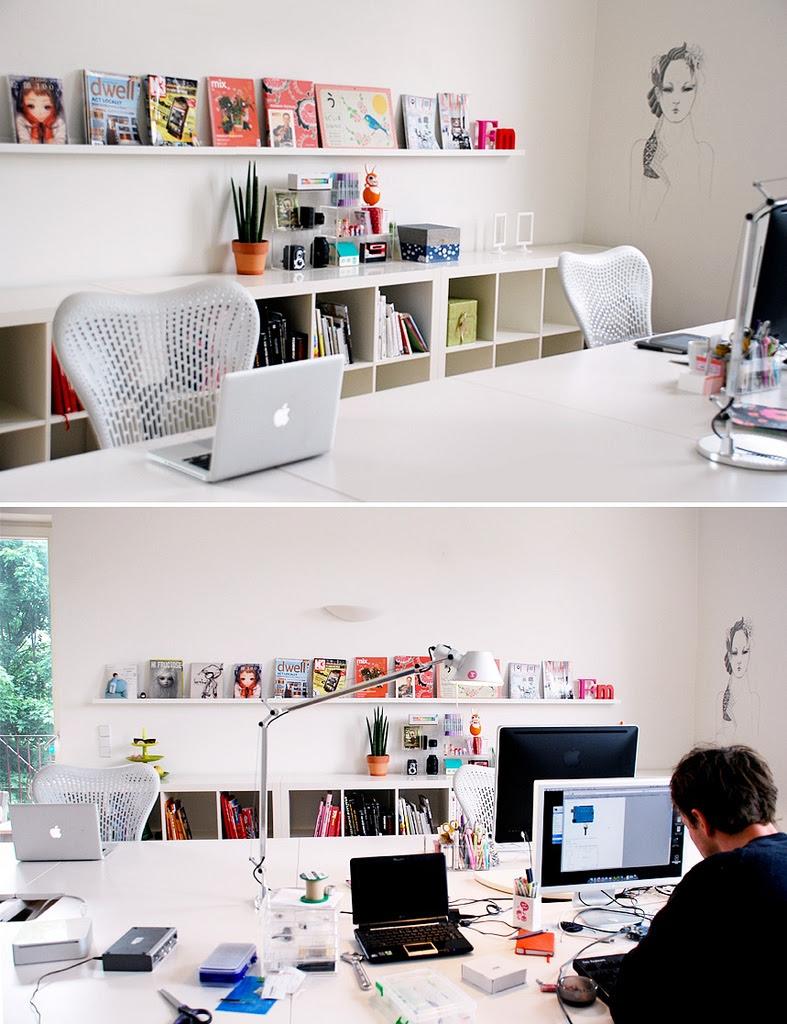 Fabulous Home Office Desk Designs for Living Rooms ...